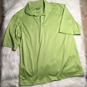 Bolle men's Green Golf Polo Top Large